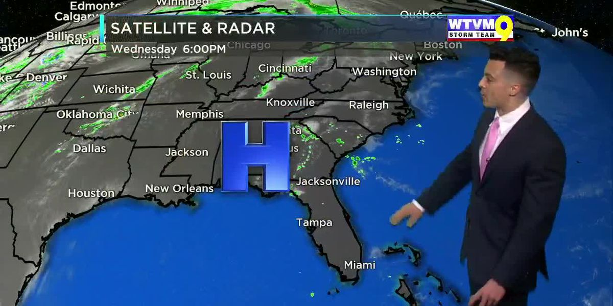 Wednesday Evening Weather on the Go