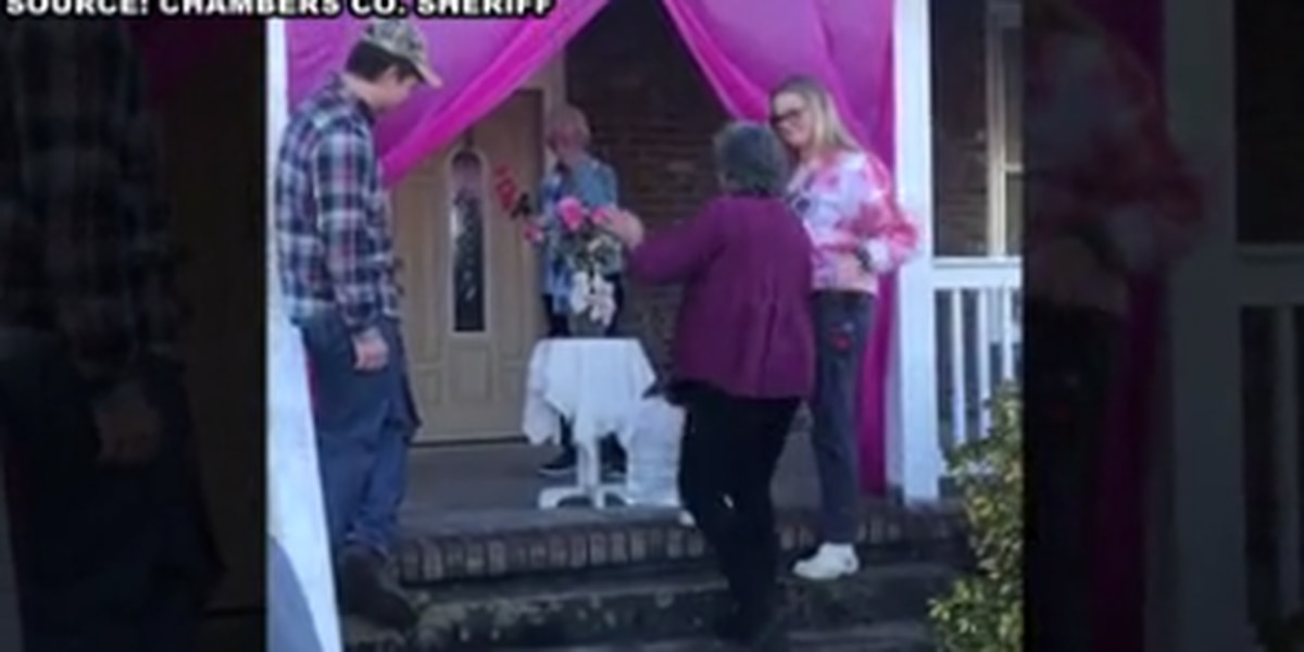Chambers County sheriff's deputies surprise 80-year-old cancer survivor after last radiation treatment