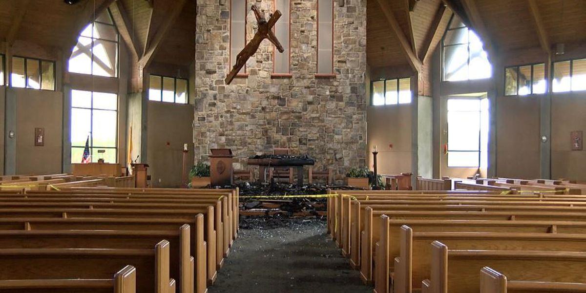 Pine Mountain church struck by lightning Tuesday night