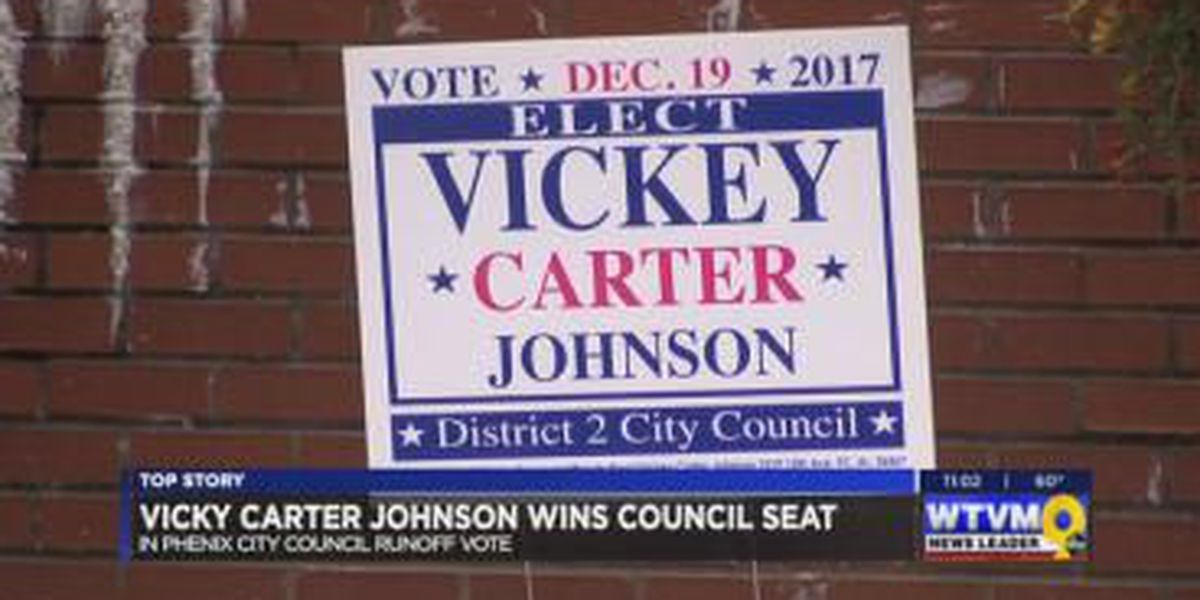 Vickey Carter Johnson elected to Phenix City District 2 seat