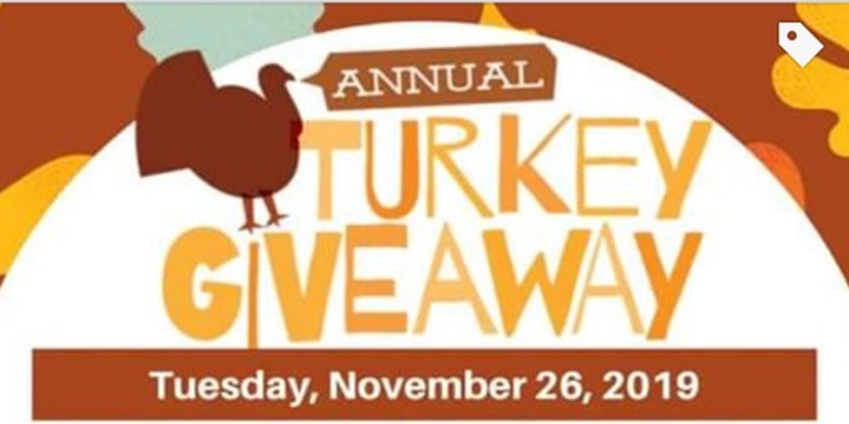 Thanksgiving turkey giveaway takes place Nov. 26th