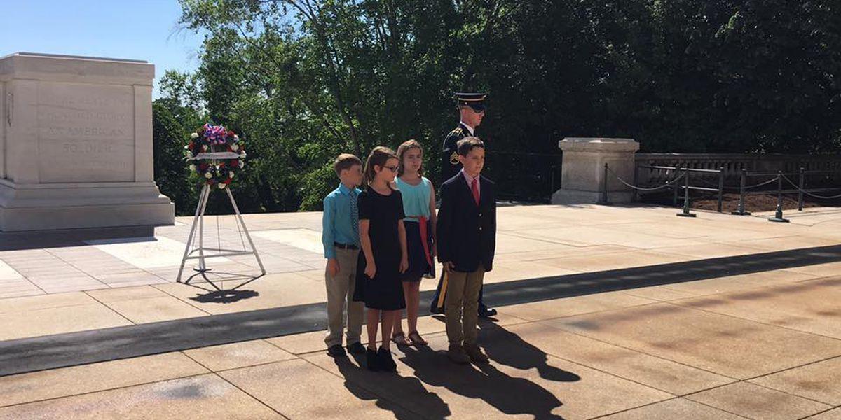 Phenix City students lay wreath at Arlington National Cemetery