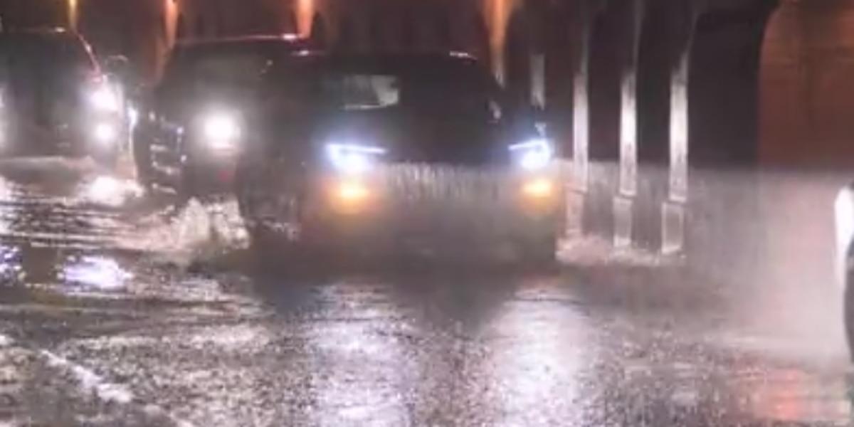 Emergency management officials warn of hazardous roads