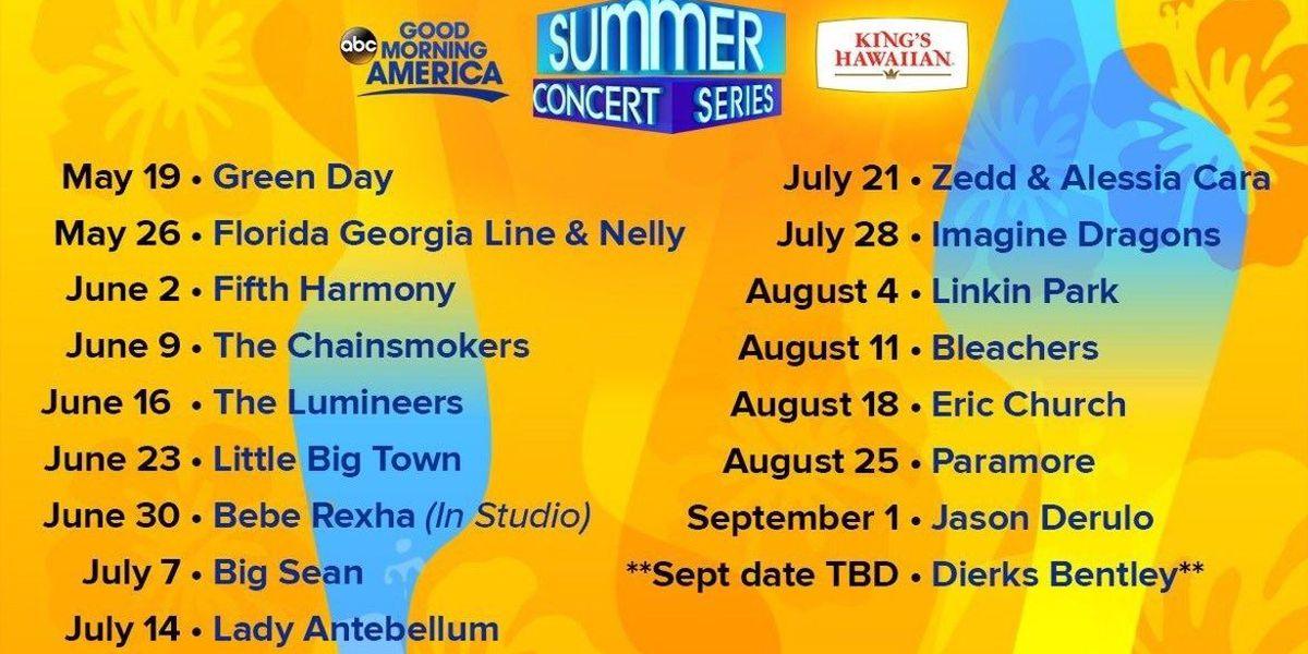 GMA announces 2017 concert series lineup
