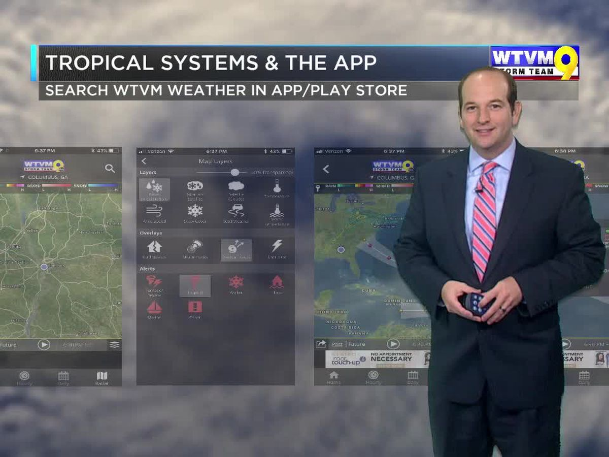 Track Tropical Storms and Hurricanes on the WTVM Weather App