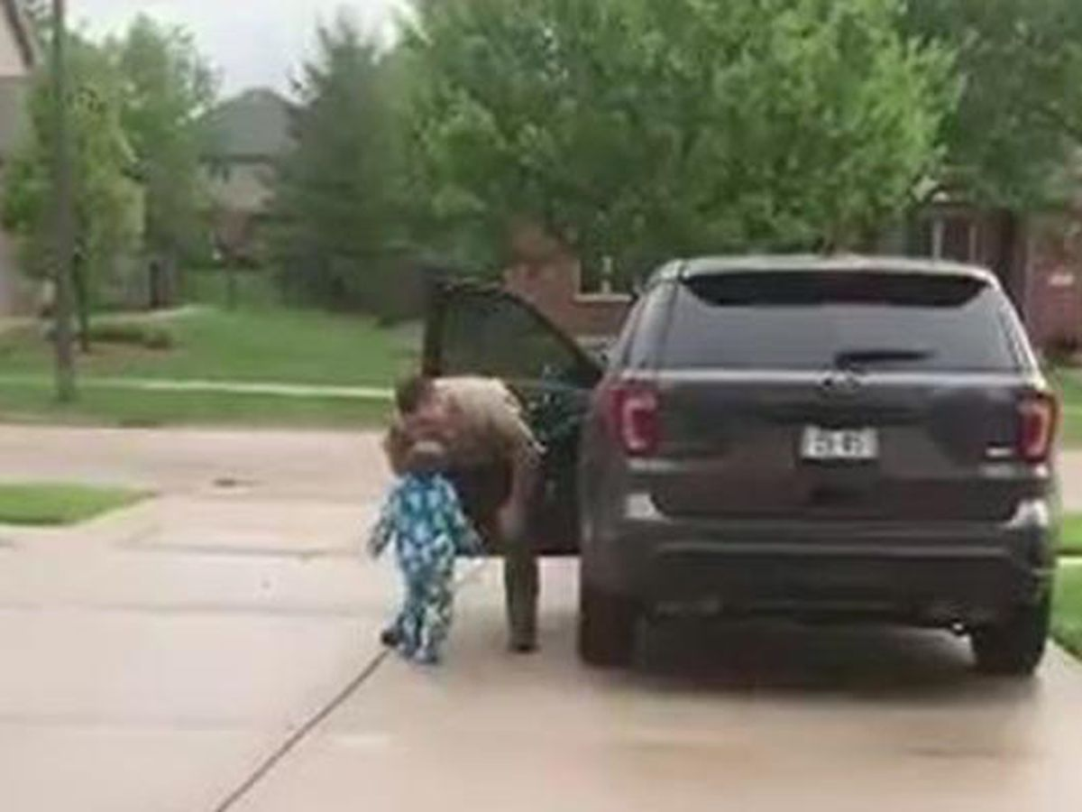 VIDEO: 'I want one more kiss': Boy not ready to say goodbye to state trooper dad before his shift