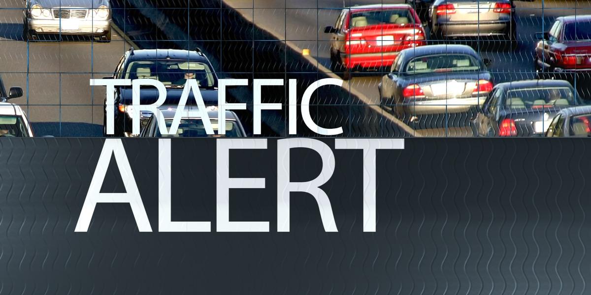 Traffic at a standstill on JR Allen Pkwy. after crash near Moon Rd.
