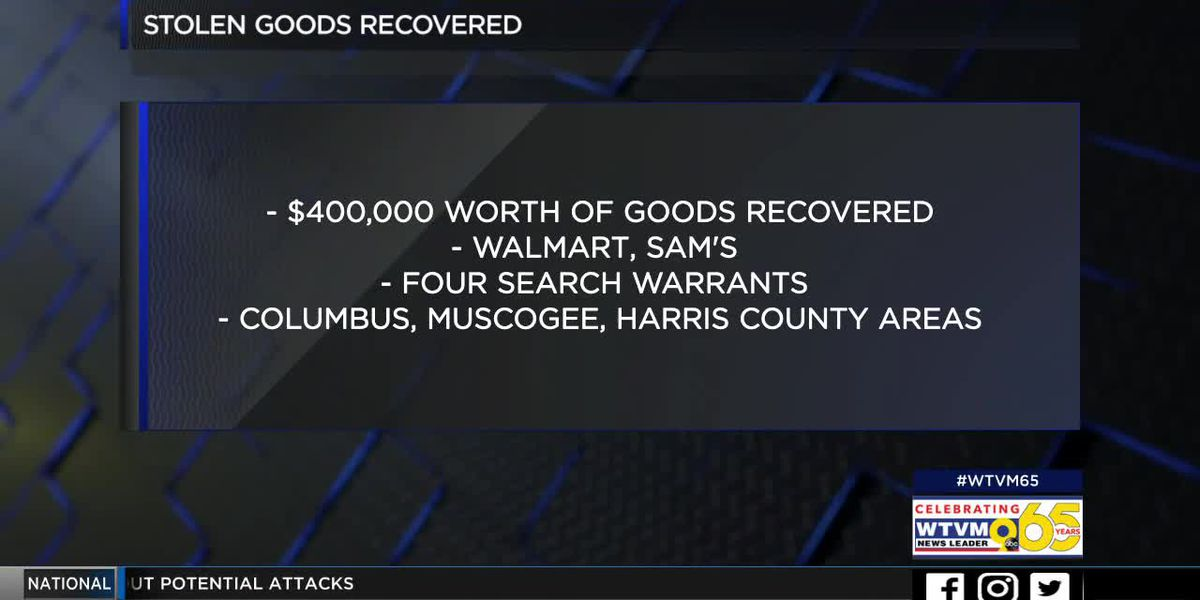 Muscogee Co. Sheriff's Office recovers $400,000 worth of stolen goods