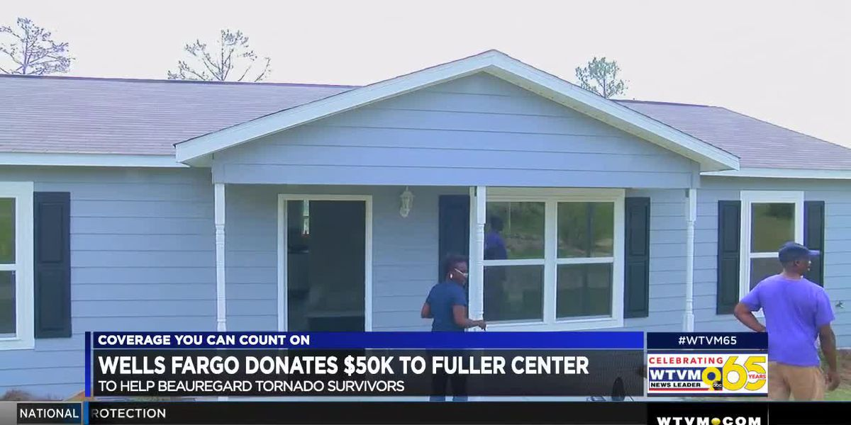 Wells Fargo donates $50K to Fuller Center to help Beauregard tornado survivors