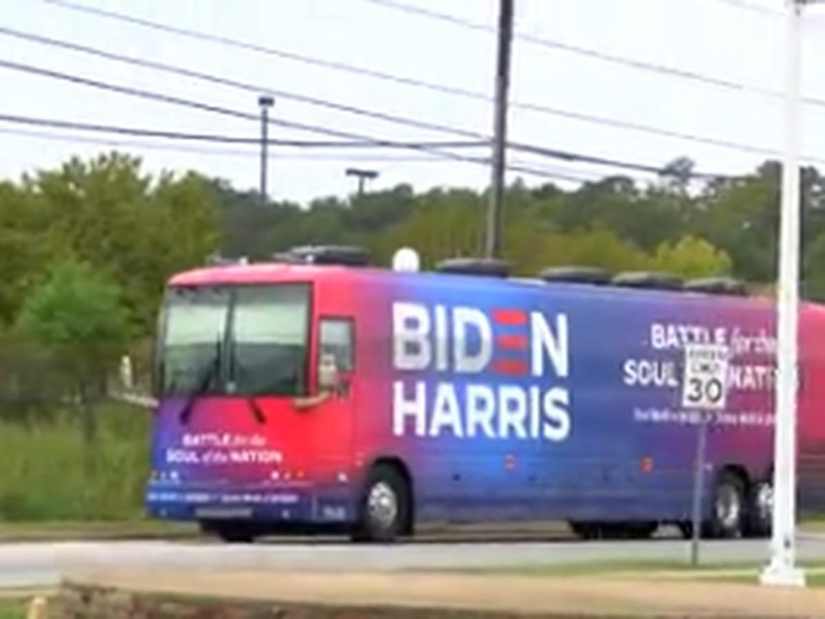 Biden-Harris campaign bus comes to Columbus