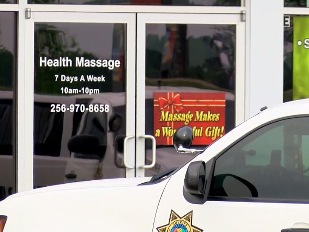 Business halted at north AL massage parlors suspected of human trafficking