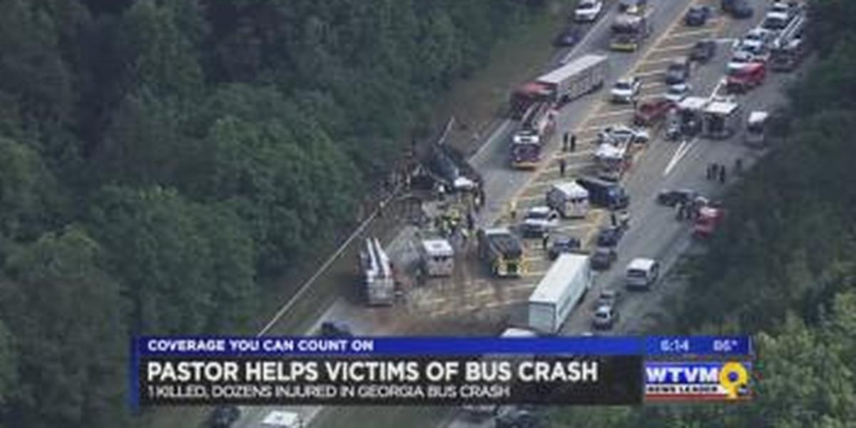 Pastor helps victims of Atlanta bus crash