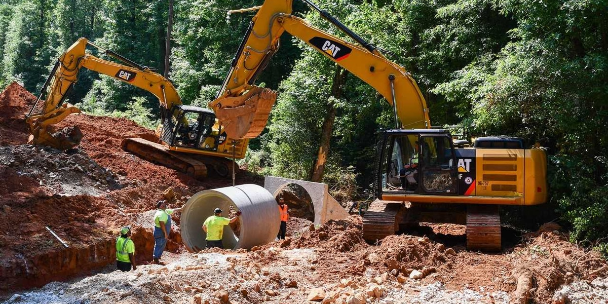 Construction continues on flood damaged roads in Troup County