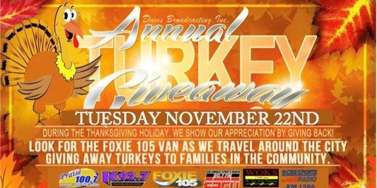 Davis Broadcasting to host 11th annual turkey giveaway