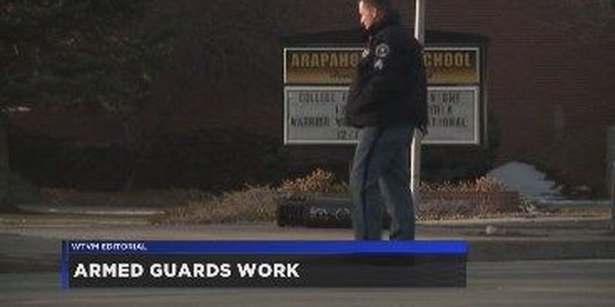 WTVM Editorial 3/23/18: Armed guards work
