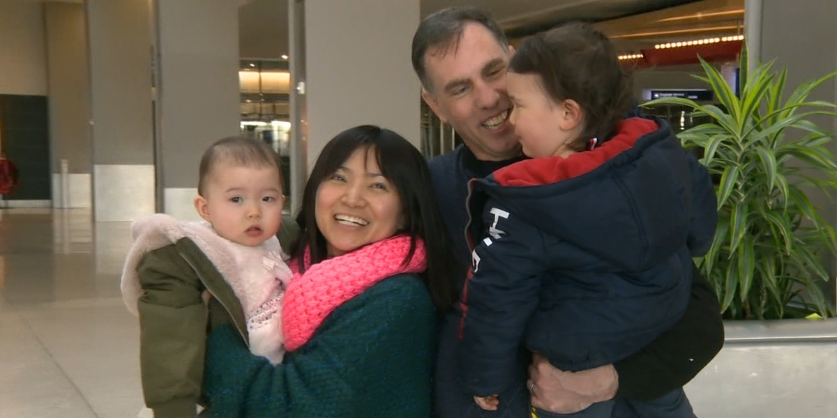 Family reunited in California after evacuating Wuhan