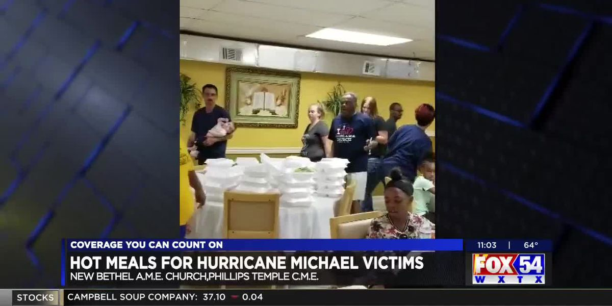 Two local churches prepare hot meals for Hurricane Michael victims