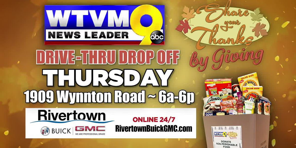 WTVM to host drive-thru food drive Thursday