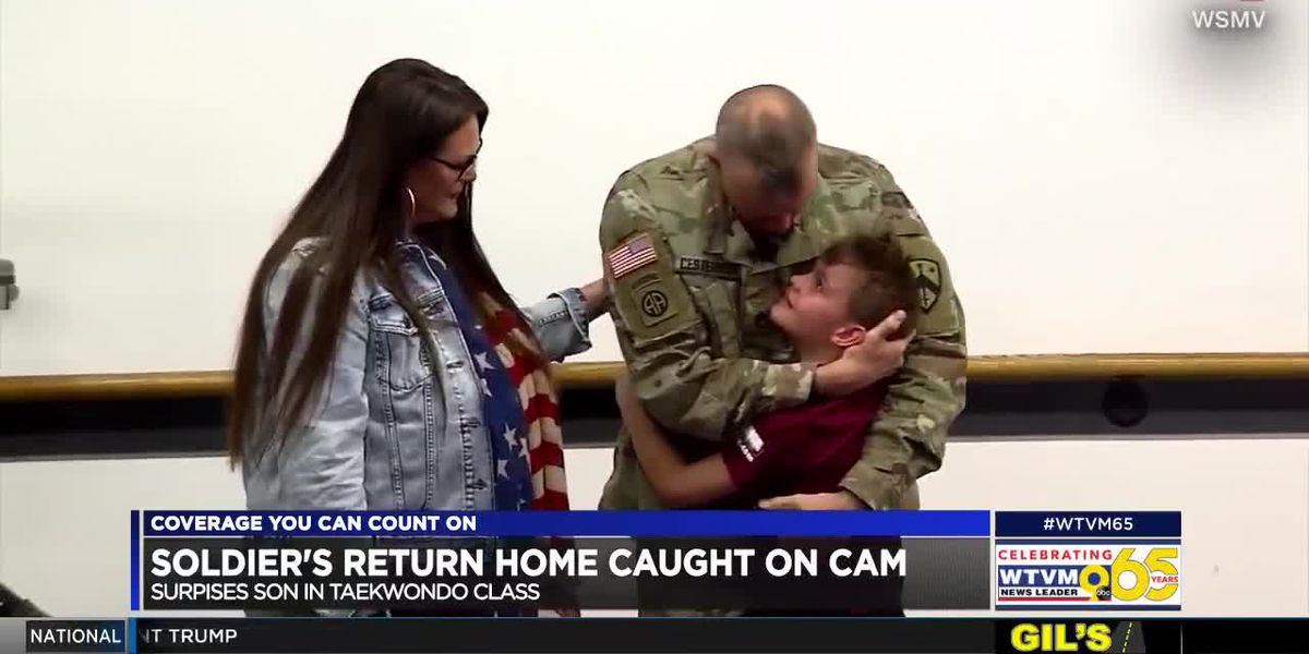 POWER OF GOODWILL: Soldier's return home caught on cam