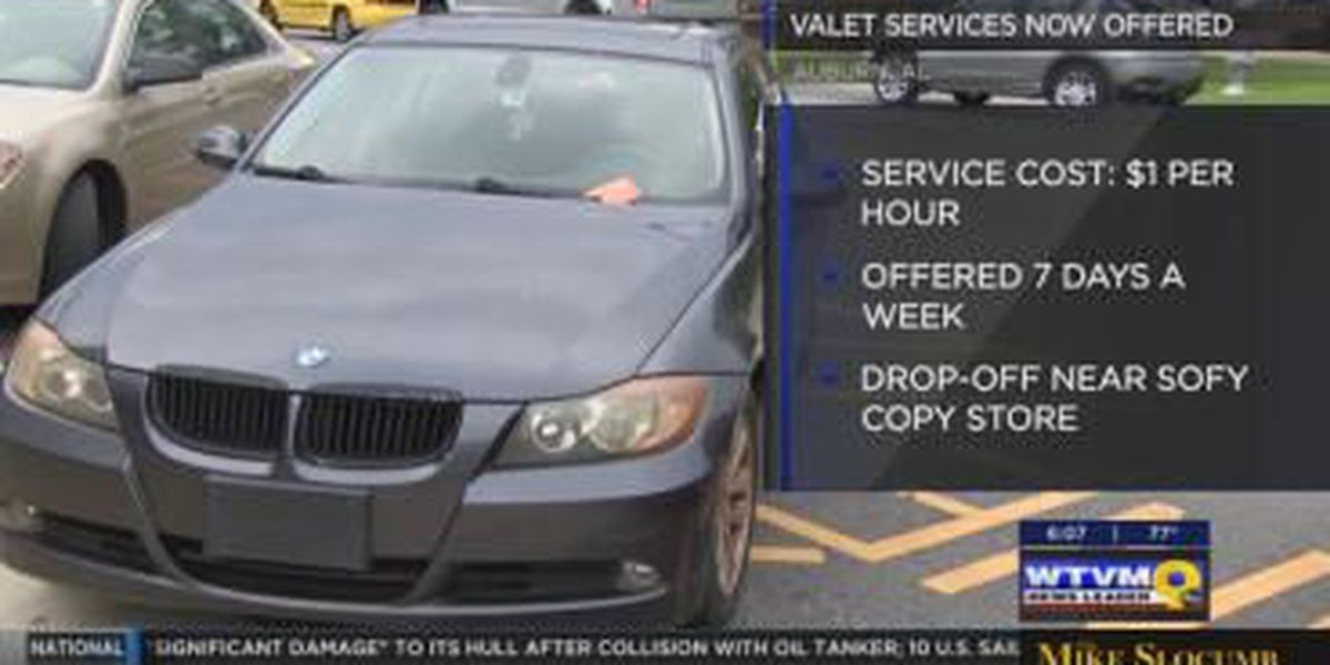 Downtown Auburn offers valet parking