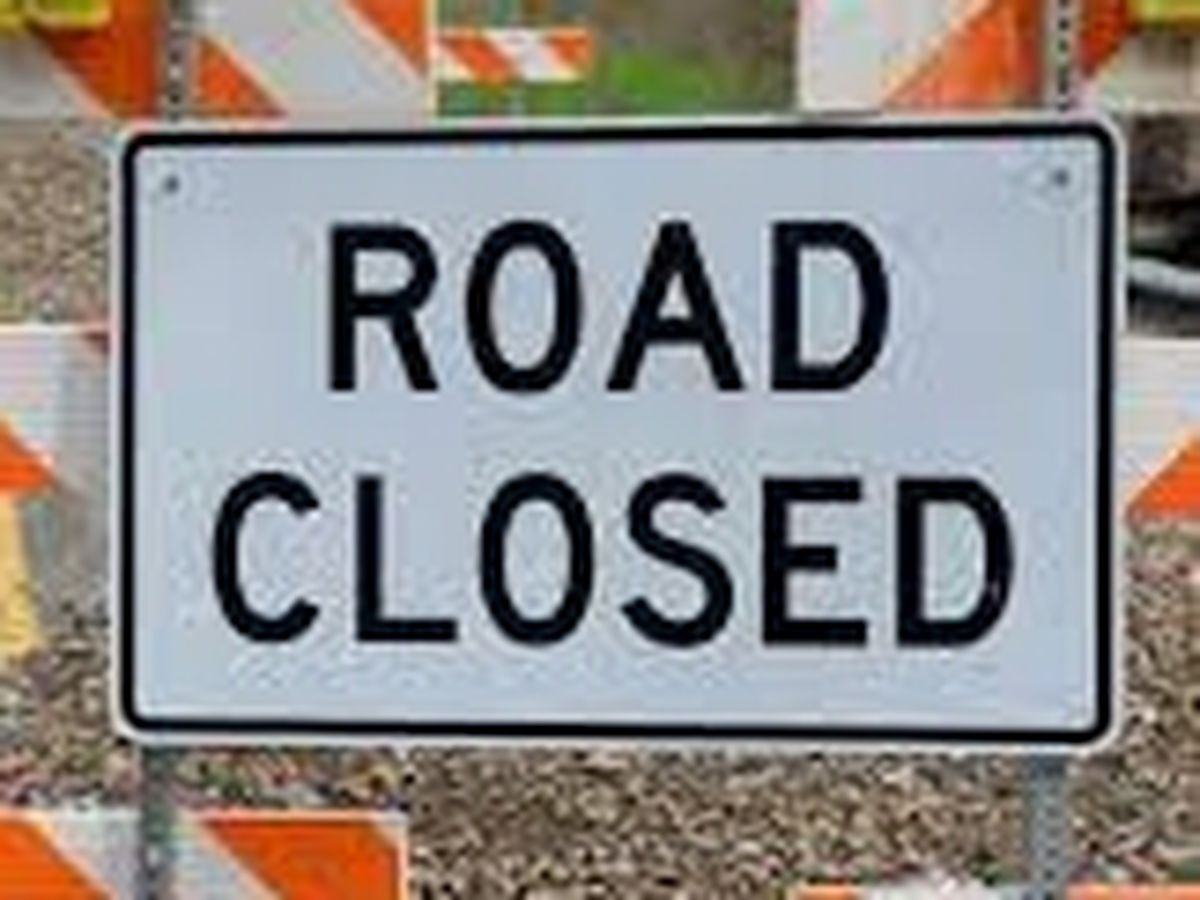 Multiple roads temporarily closed in Auburn due to storm debris from Hurricane Zeta