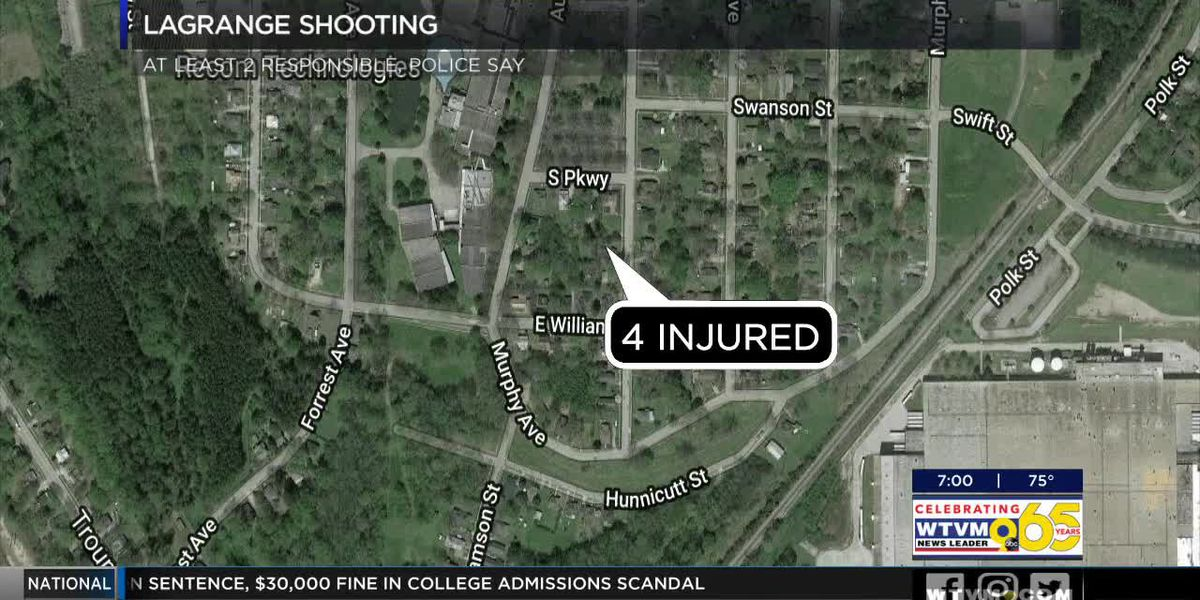 4 people injured in shooting on Elm Street in LaGrange