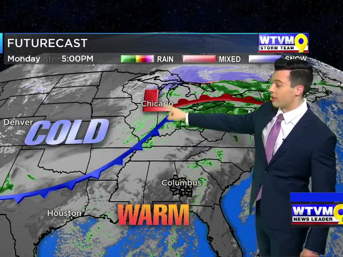Strong Cold Front Arrives Tuesday!