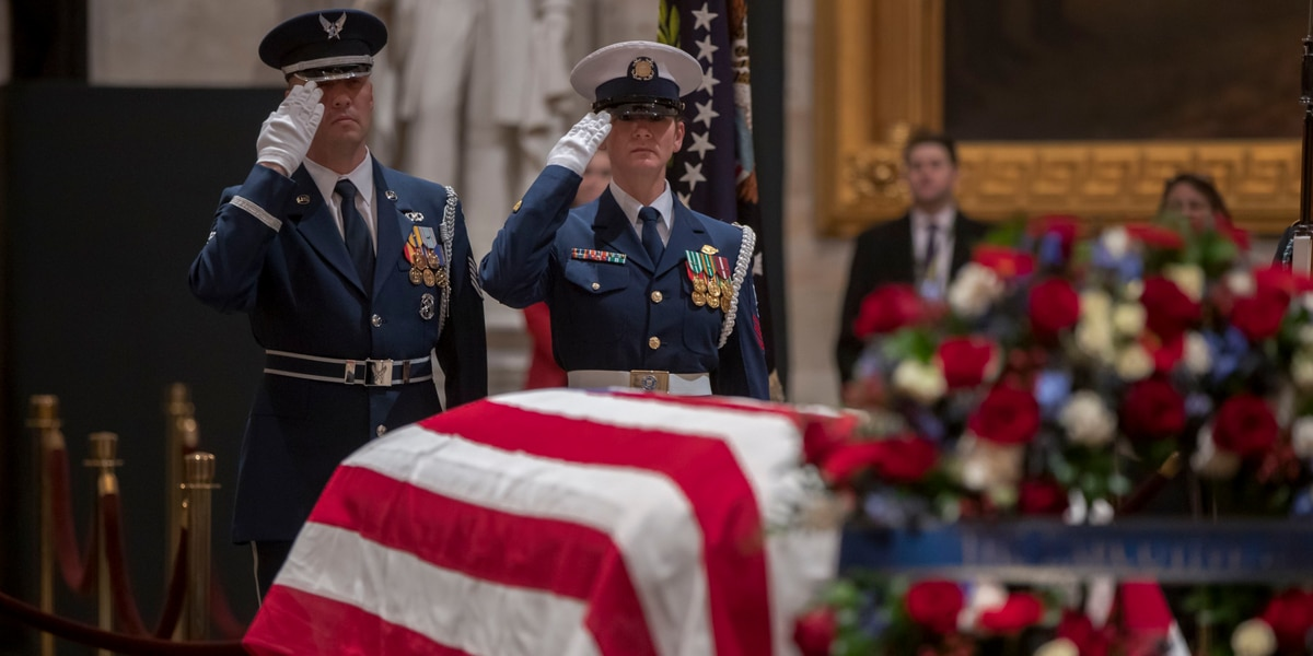 WATCH: President George H.W. Bush's funeral service in Washington