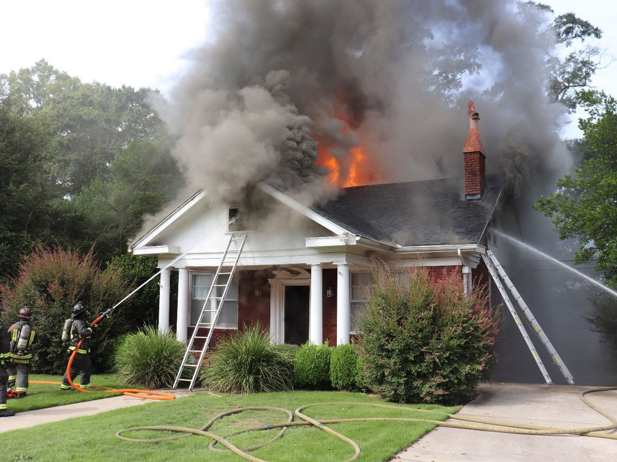 Vacant LaGrange home a total loss after massive fire