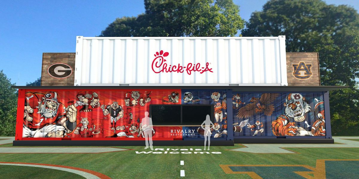 Chick-fil-A opens one-day 'Rivalry Restaurant'