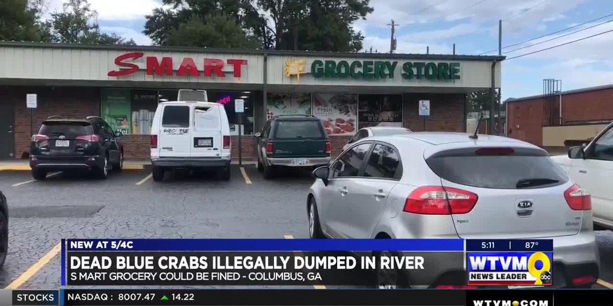 Grocery store could face charges for illegally dumping blue crabs in the Chattahoochee River