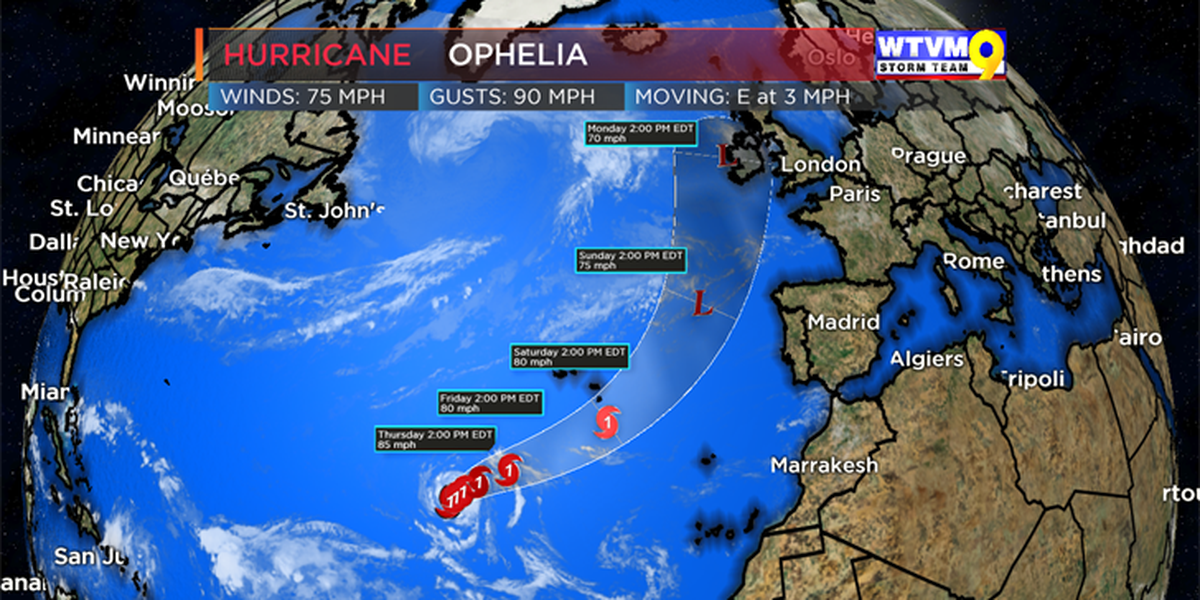 FIRST TO ALERT: Ophelia becomes 10th hurricane of the season