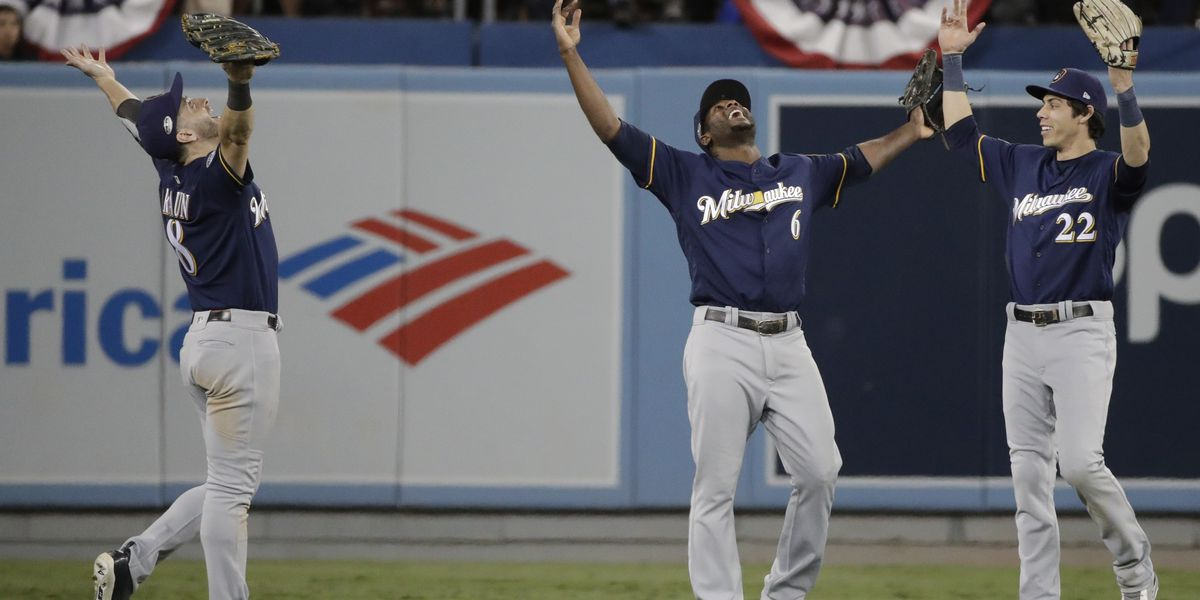 Chacin, Brewers' bullpen blank Dodgers 4-0 for 2-1 NLCS lead