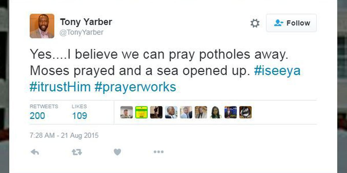 Mayor of MS capitol had prayers answered in 'pothole blitz'