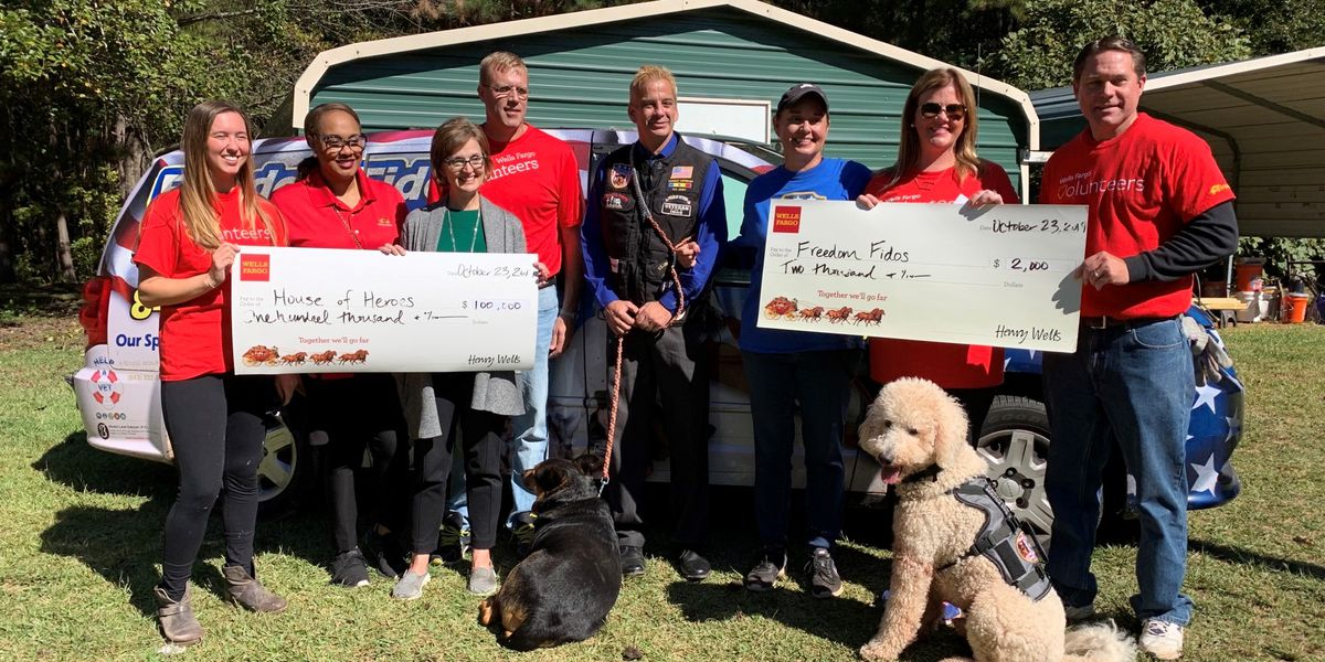 Wells Fargo presents donations to nonprofits in the Chattahoochee Valley