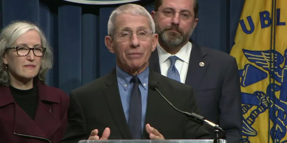 NIAID Director spoke at an HHS coronavirus press conference