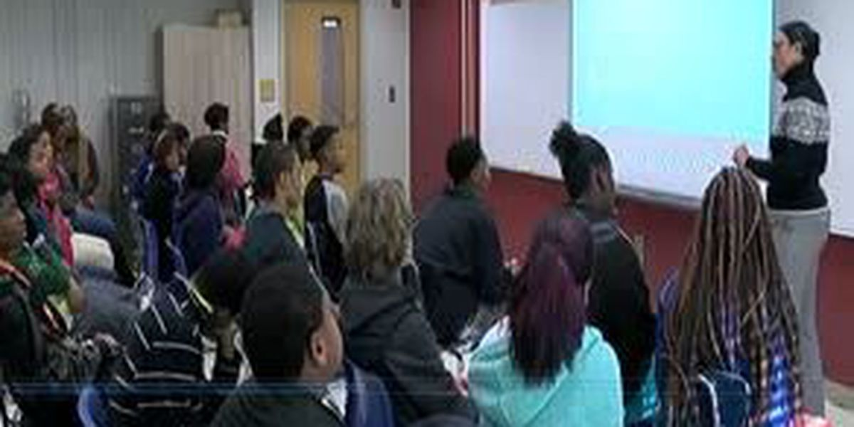 Baker Middle School receives advice from Muscogee County Tax Commissioner