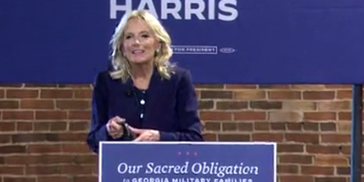 Dr. Jill Biden makes stop in Columbus on Georgia's first day of early voting