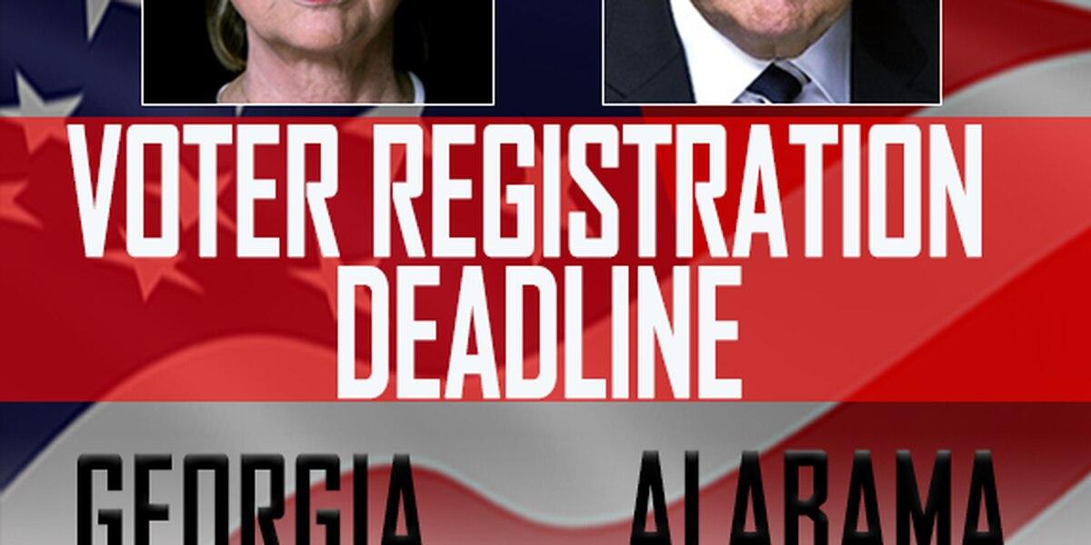 Voter registration deadlines in GA and AL
