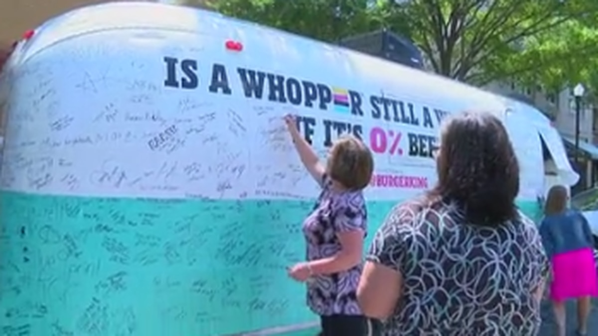 Burger King's Impossible Whopper Tour stops in Columbus