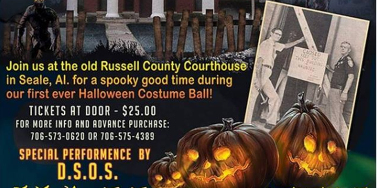 Get spooked at the Russell Co. Courthouse's Halloween Costume Ball
