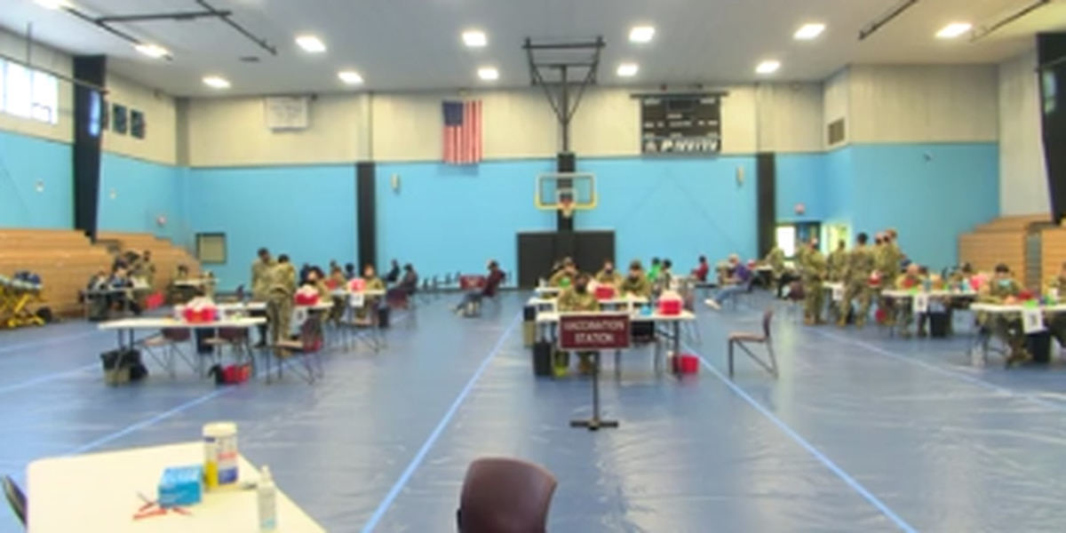 Alabama National Guard hosts COVID-19 vaccination site at CVCC in Phenix City