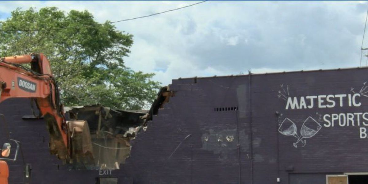 Club Majestic demolished, city to redevelop property