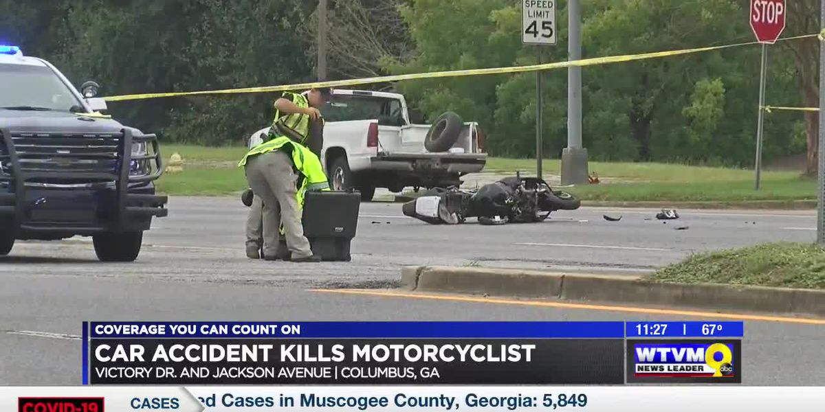 One dead in motorcycle, car crash on Victory Dr. in Columbus