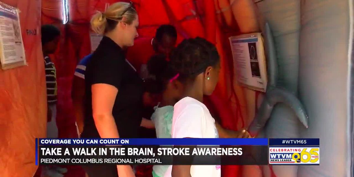 Walk through a brain with Piedmont Columbus Regional for stroke awareness
