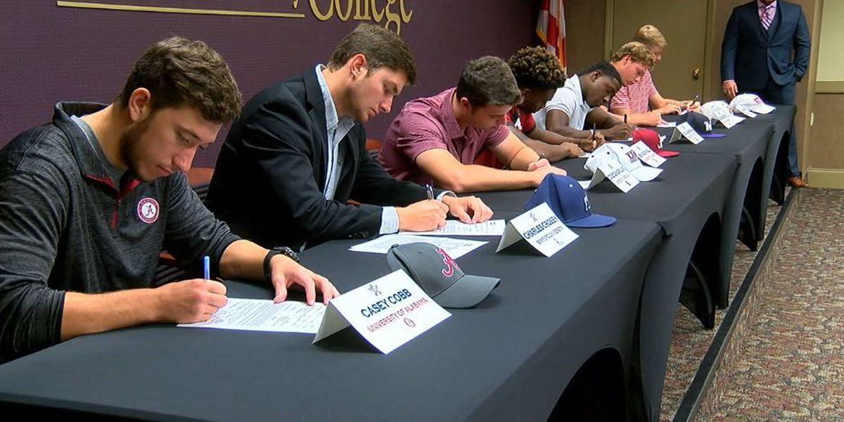 7 CVCC baseball players sign scholarships