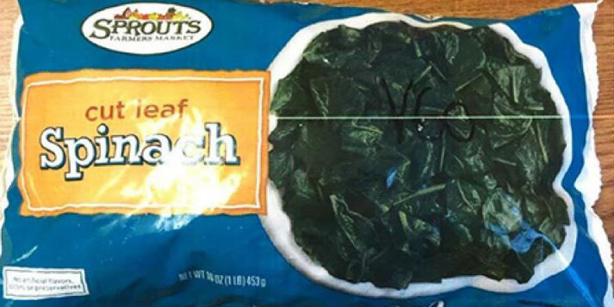 Frozen spinach recalled due to possible Listeria contamination