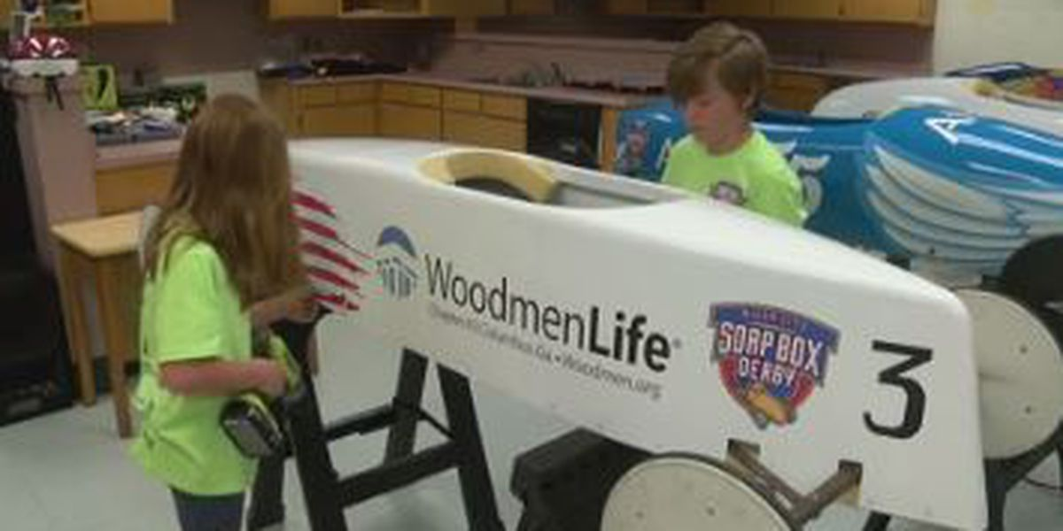 Columbus kids face off against one another in soap box derby