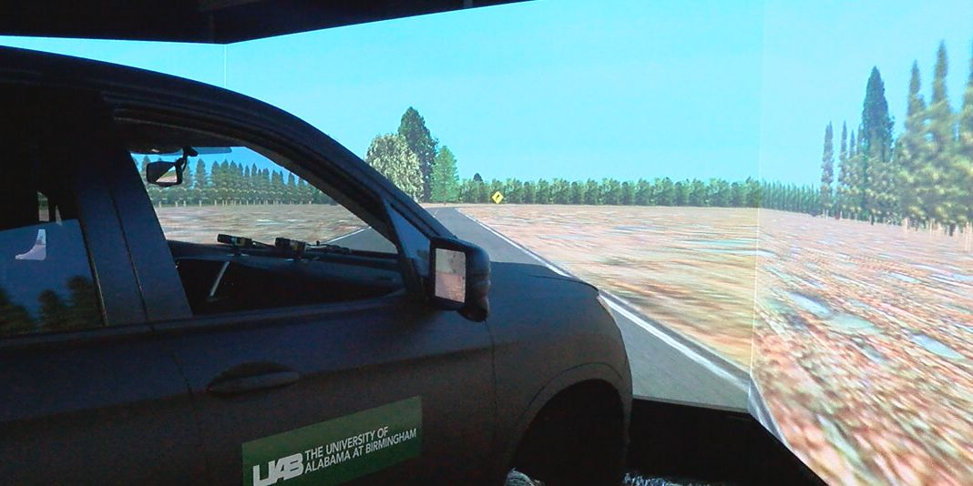 UAB researchers hope car simulator will help change Alabama driving laws
