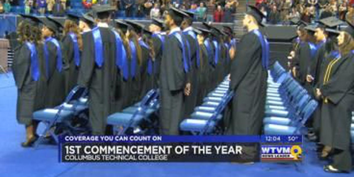 Columbus Technical College held its first graduation ceremony of 2016